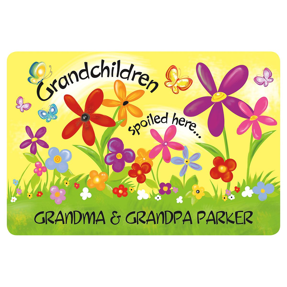 Grandparents Personalized Welcome Doormat