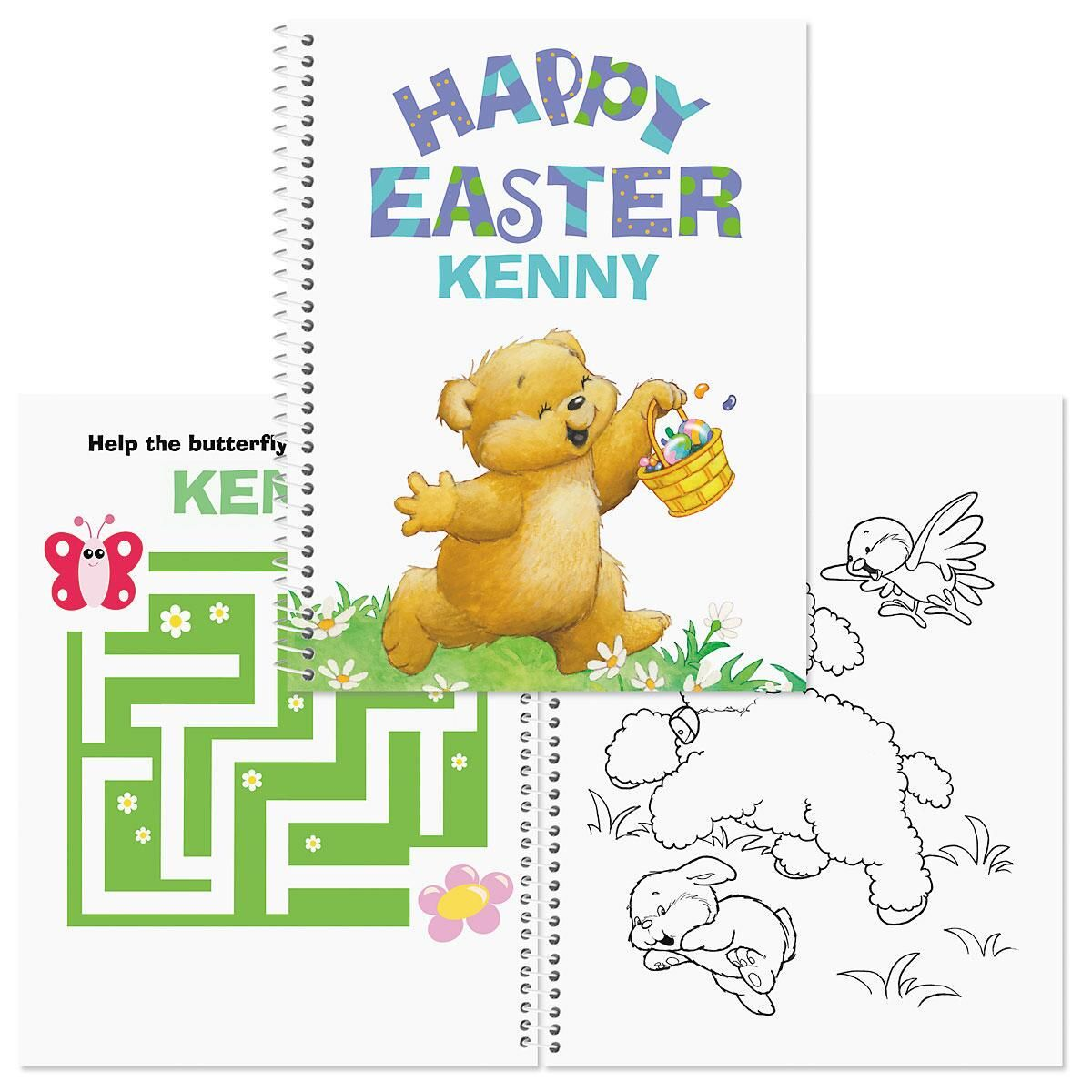 Personalized Easter Coloring & Activity Book