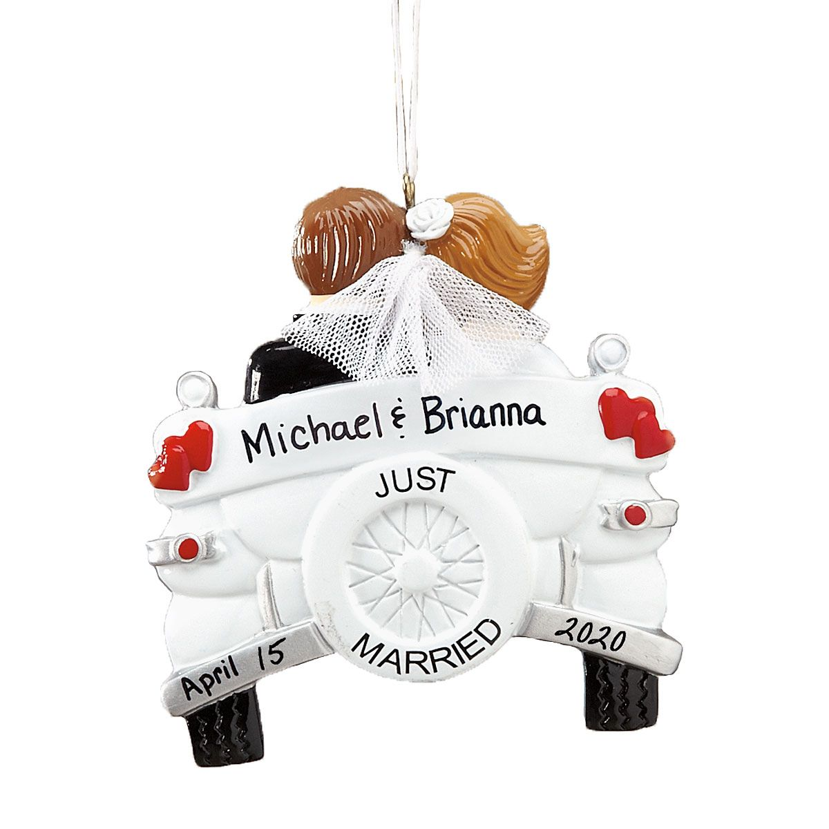 Just Married Personalized Wedding Ornament