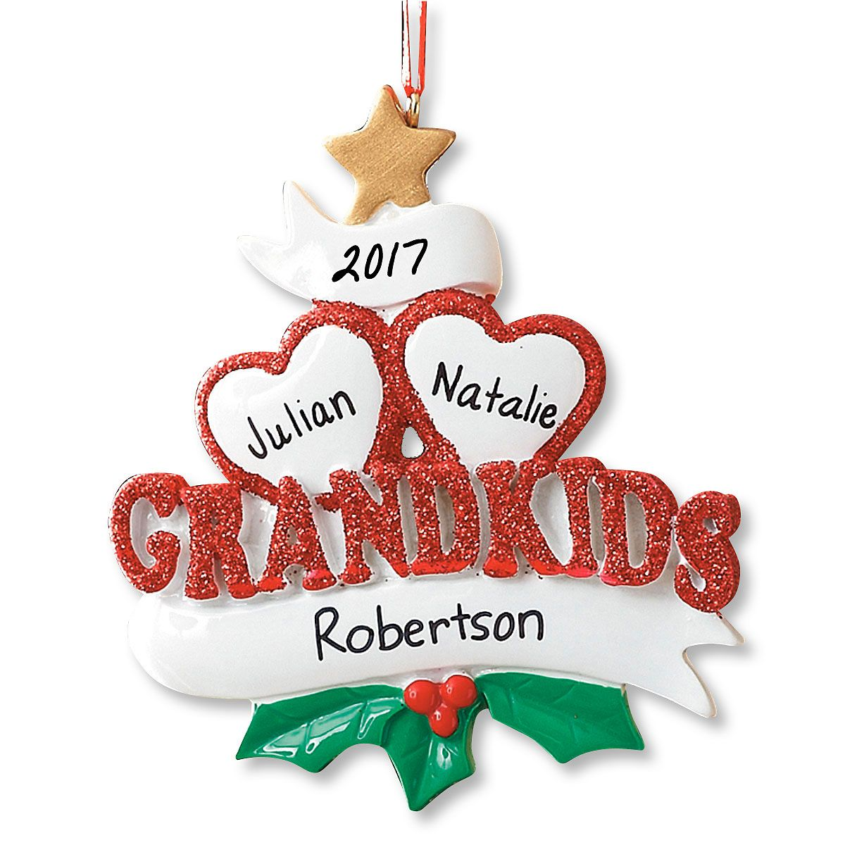 Grandkids Christmas Personalized Ornaments