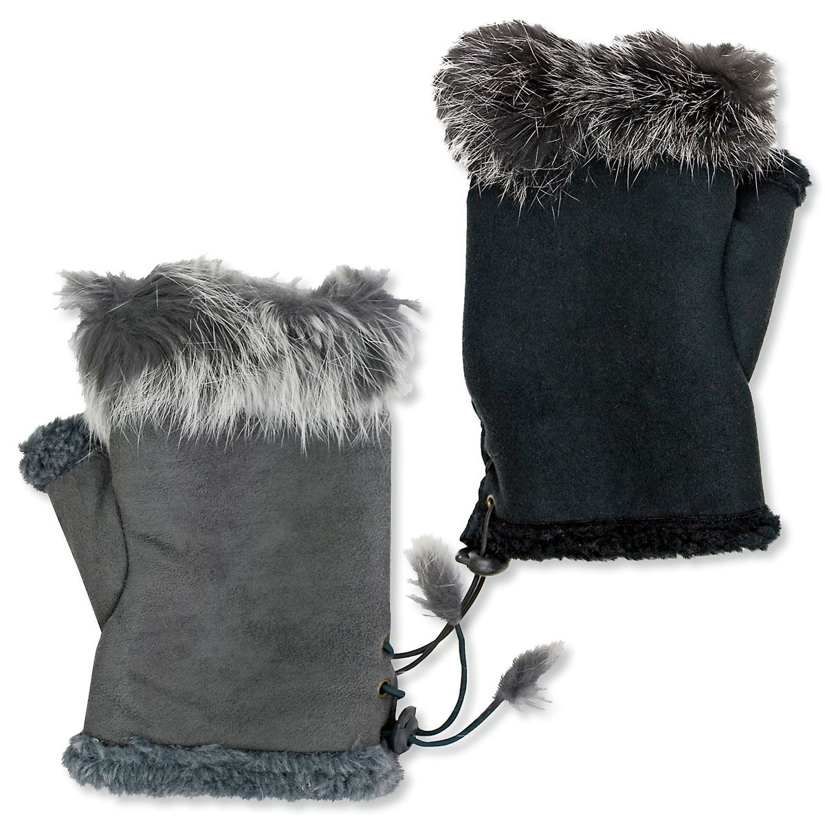 Faux Fur Texting Gloves