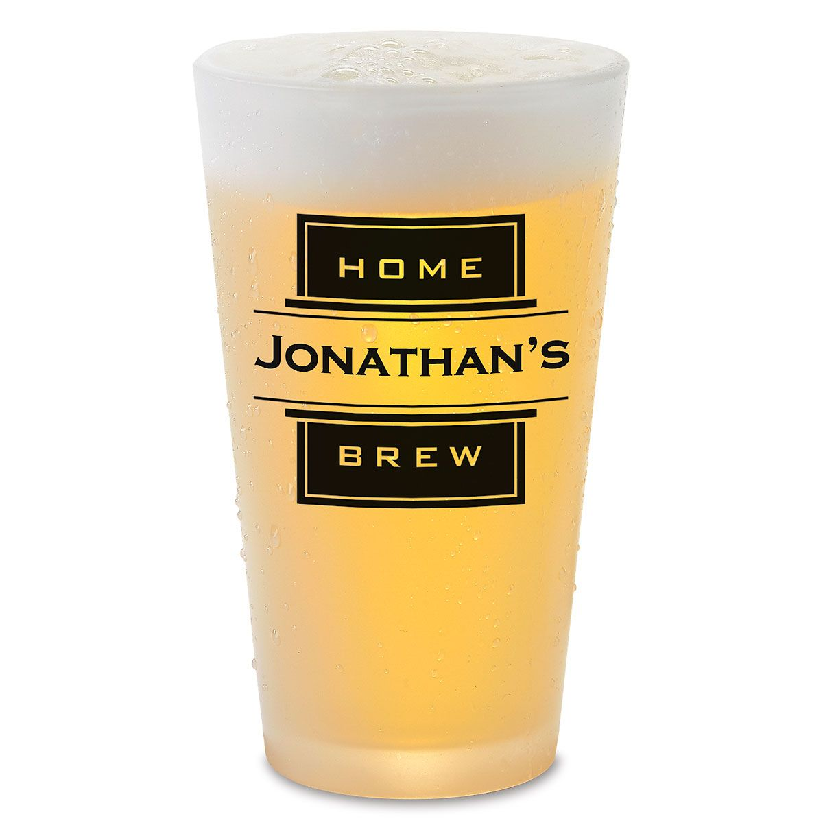 Home Brew Pint Glass