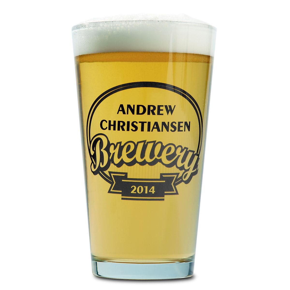 Brewery Name Pint Glass