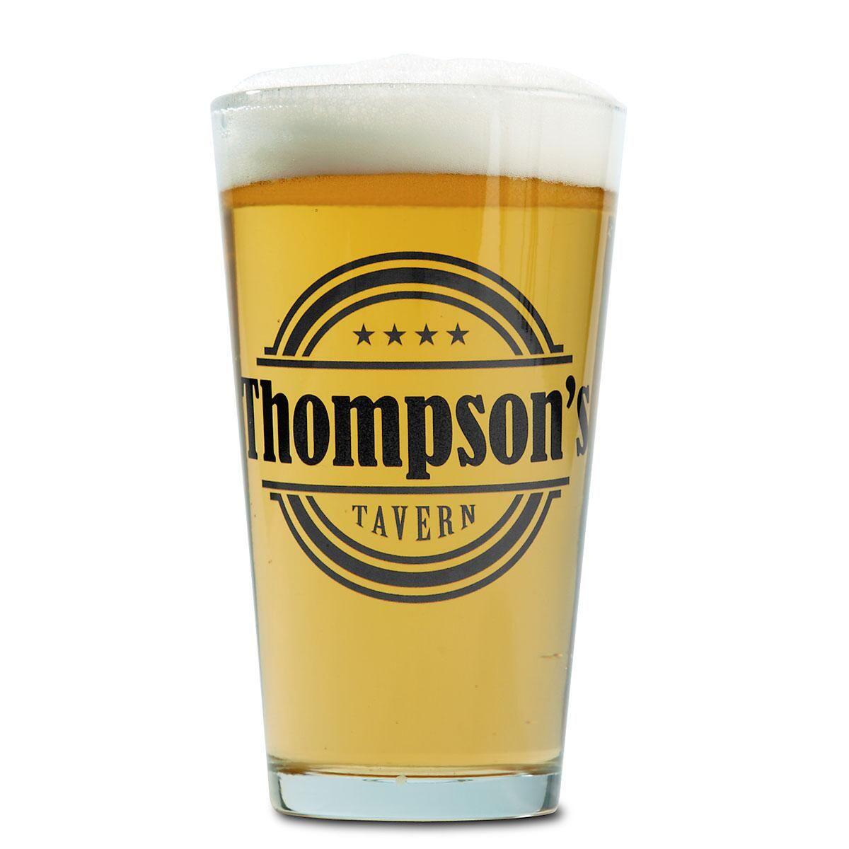 Tavern Name Pint Glass