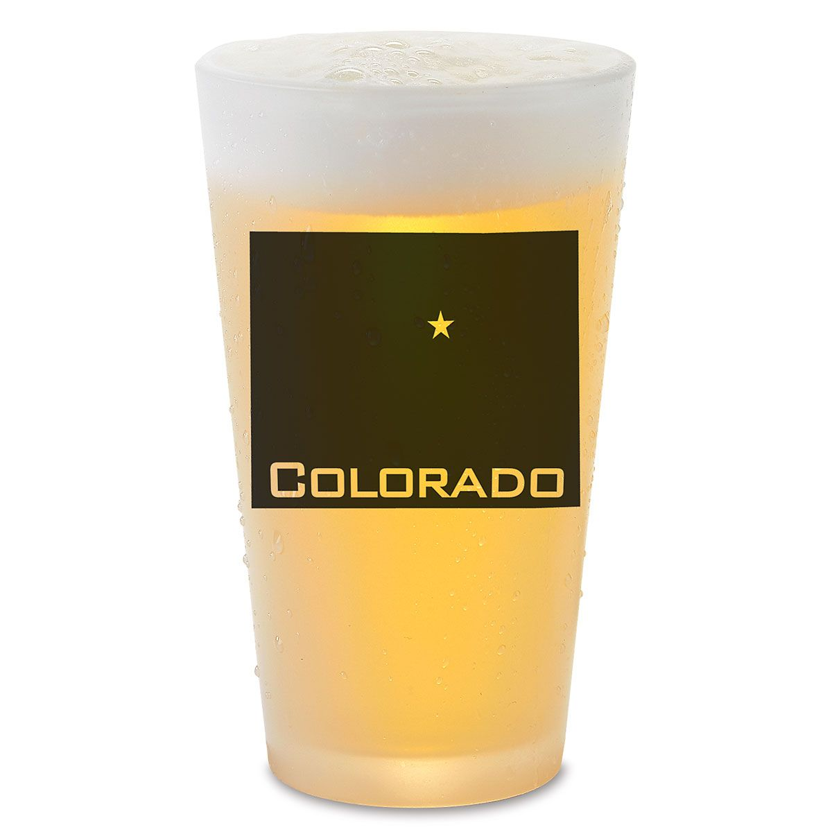 State Silhouette Pint Glass