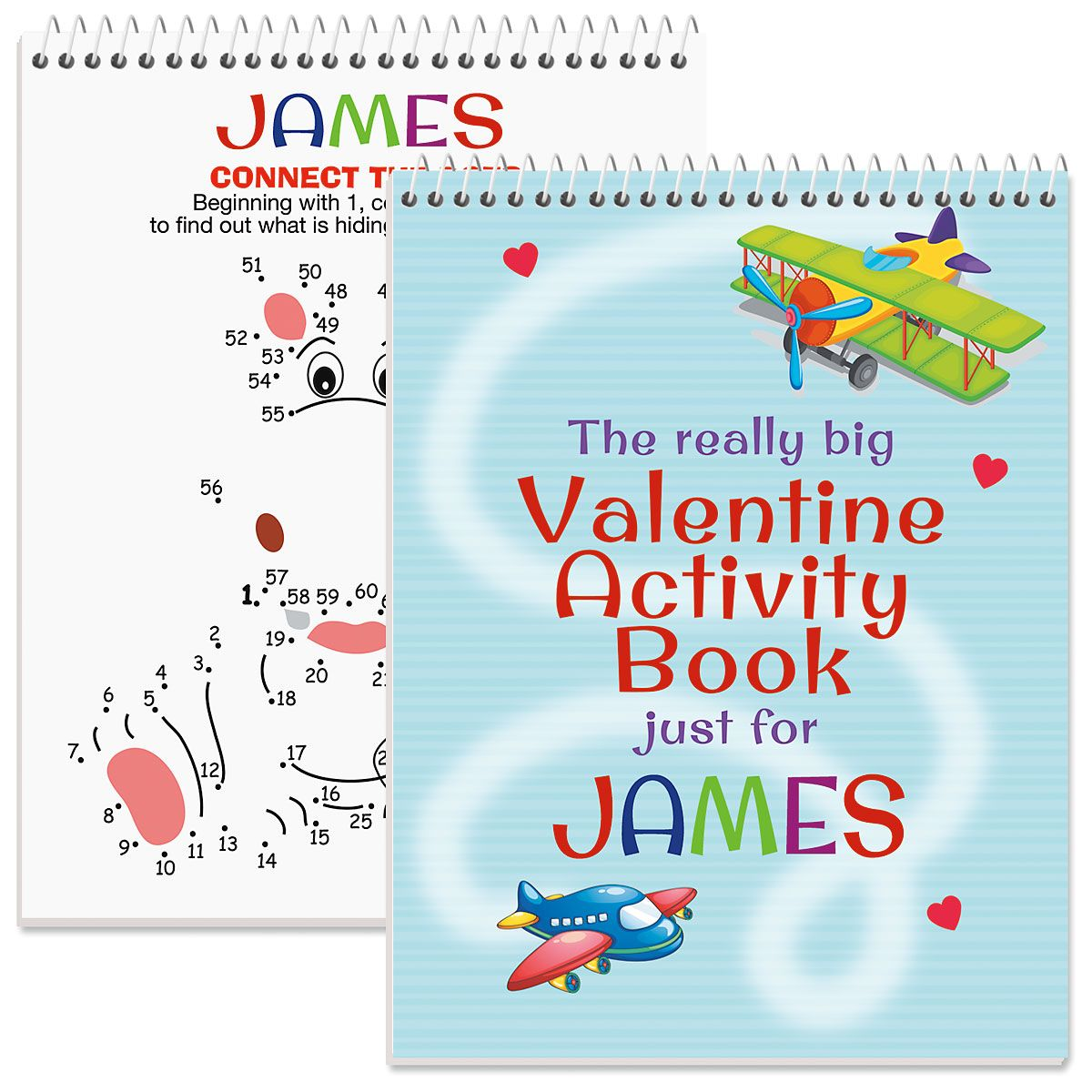 Personalized Really Big Valentine Activity Book - Boy
