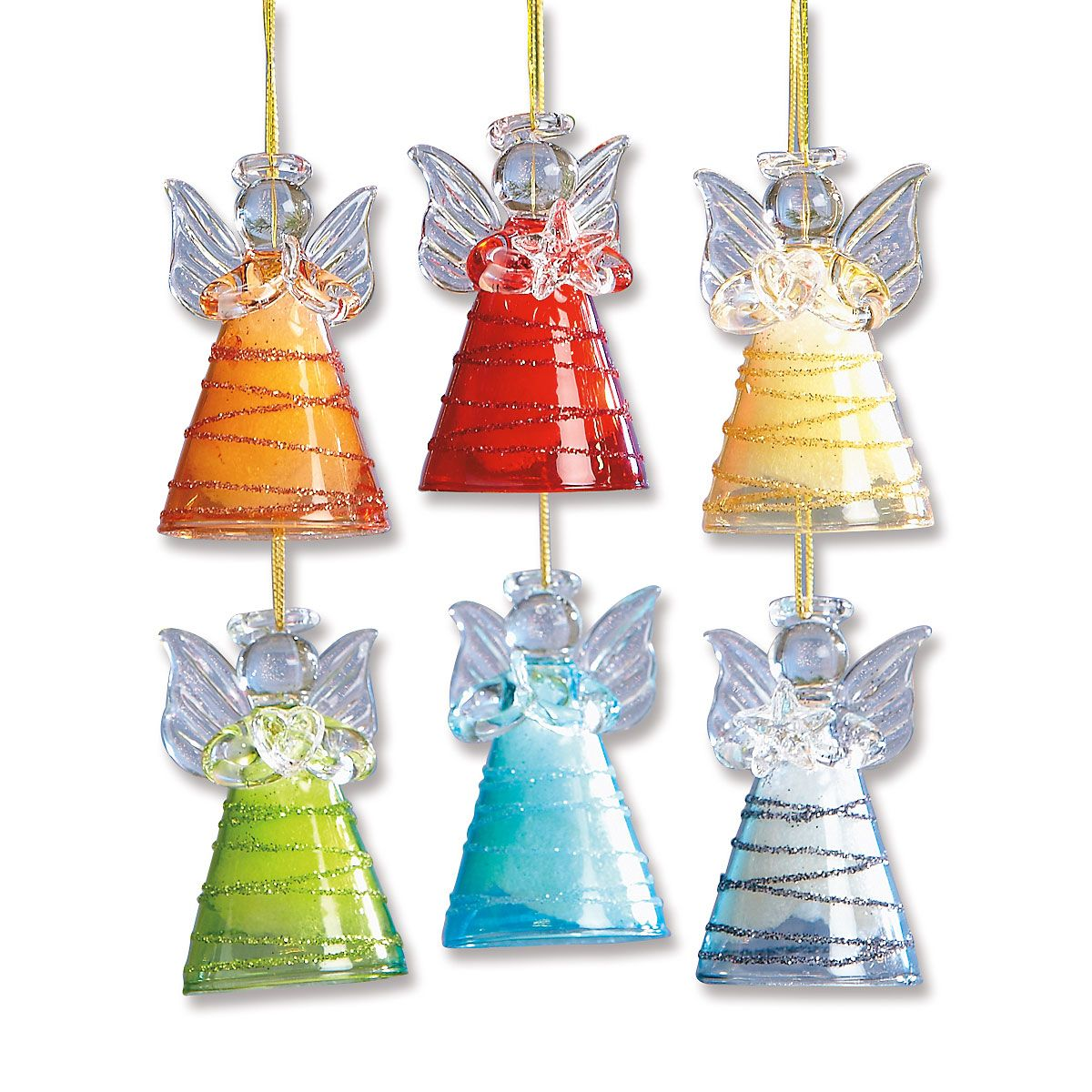 Glass Angel Ornaments | Lillian Vernon