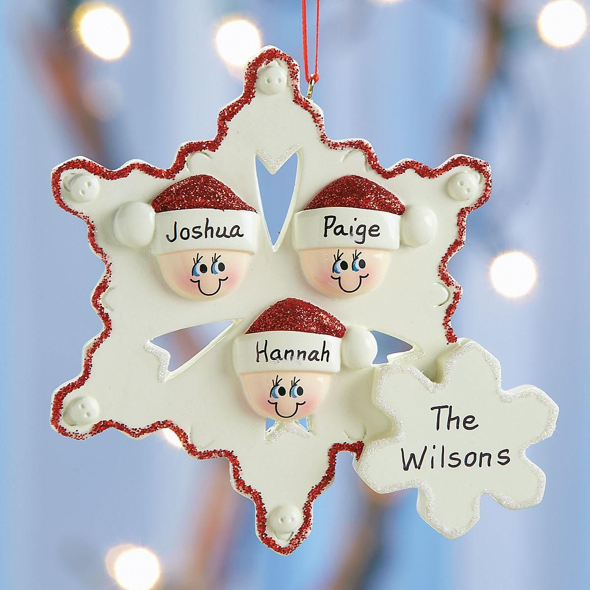 Snowflake Family Personalized Christmas Ornament