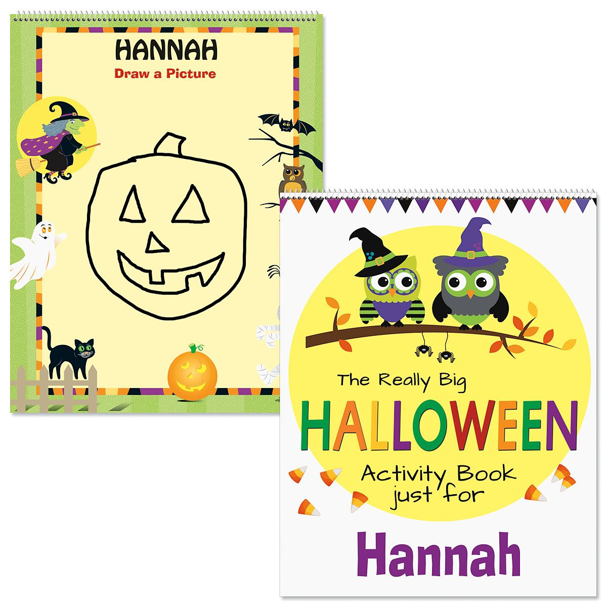 Personalized Halloween Activity Book-Owl-613089A