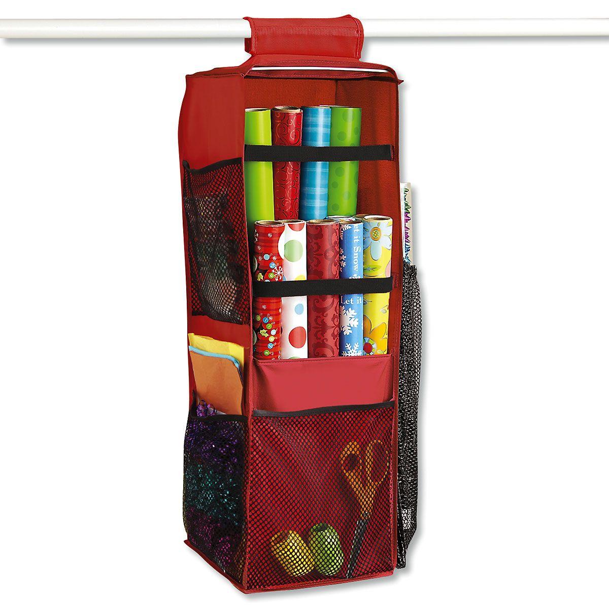 Closet Rod Gift-Wrap Organizer