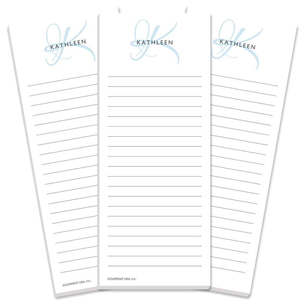 Initial Lined Shopping Pad