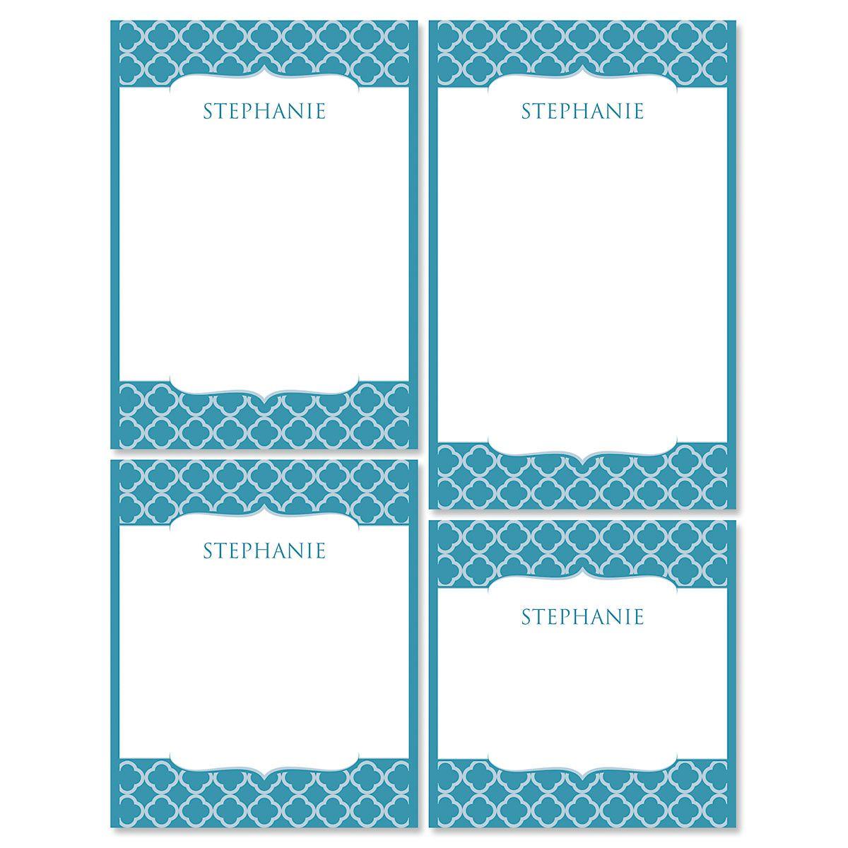 Renaissance Notepads-Teal-613873A