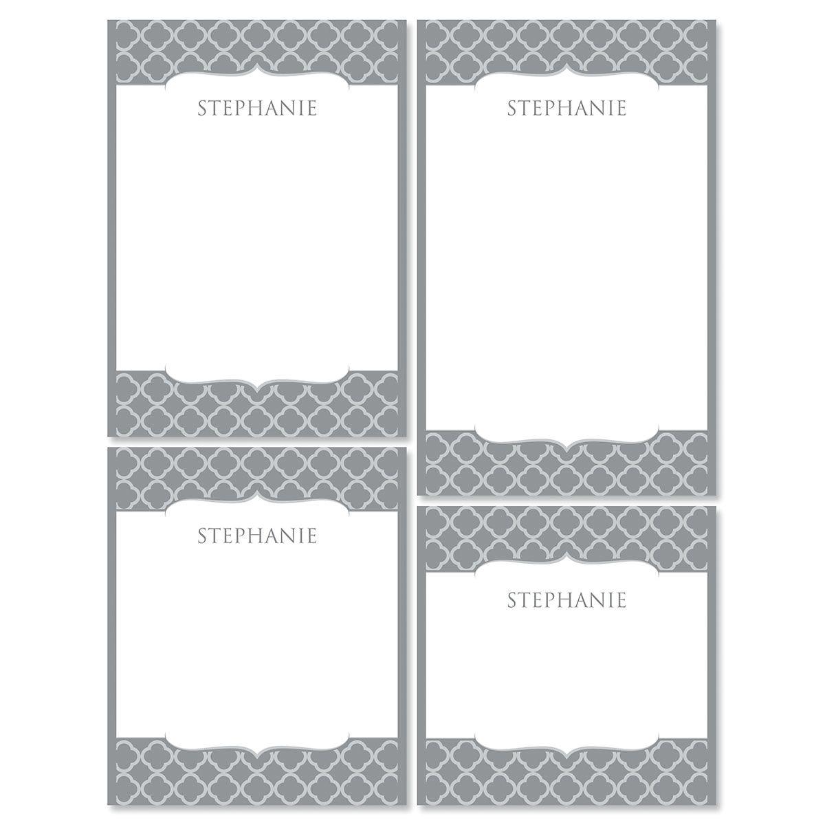 Renaissance Notepads-Gray-613873B