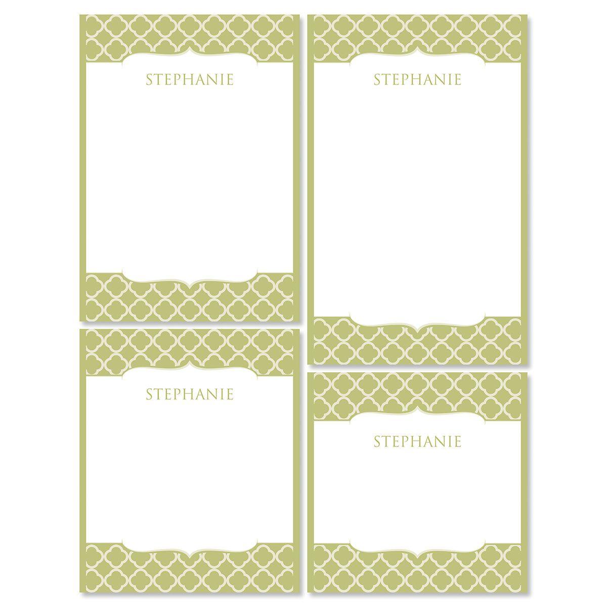 Renaissance Notepads-Olive-613873C