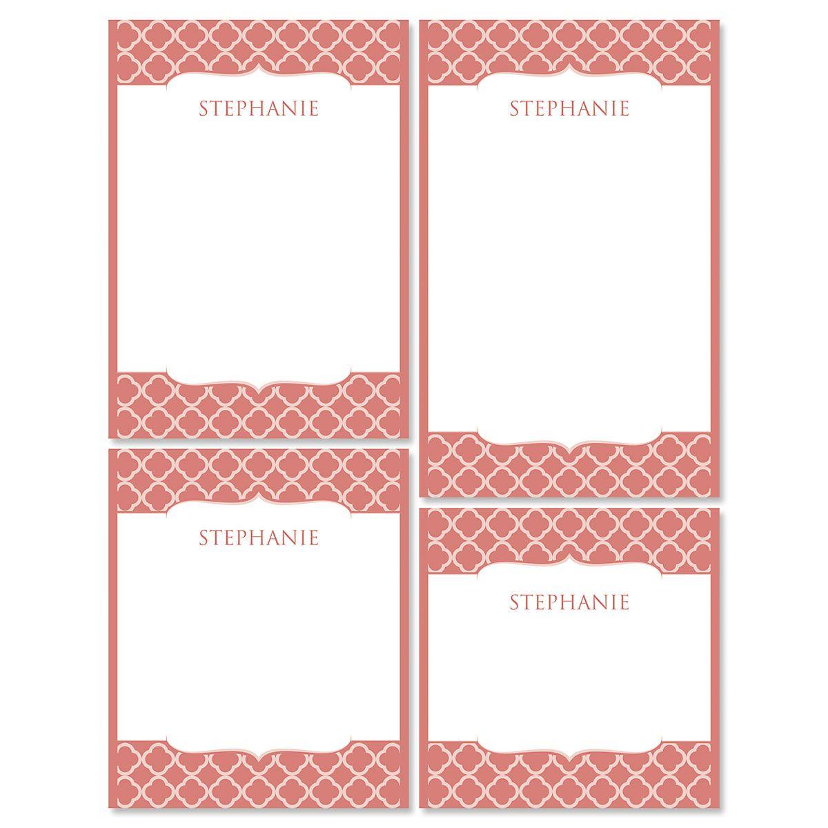 Renaissance Notepads-Coral-613873D