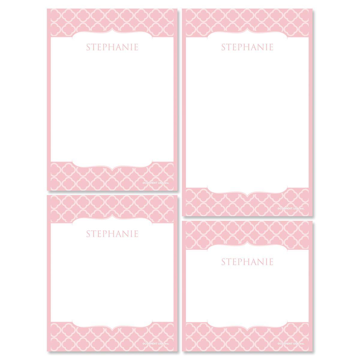 Renaissance Notepads-Pink-613873E