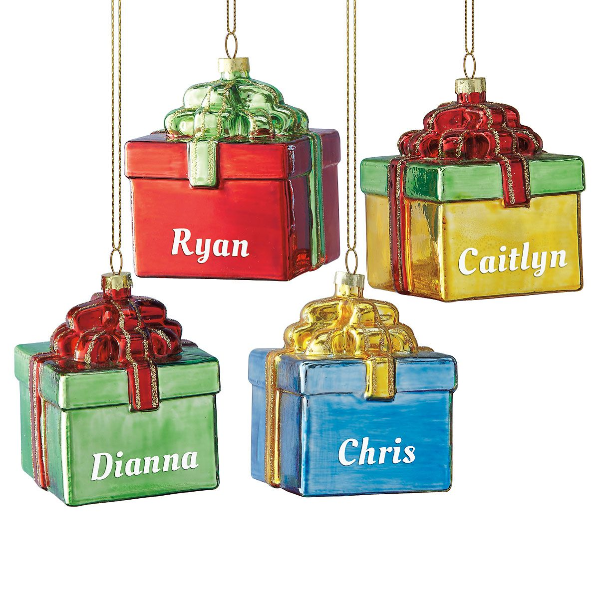 Gift Box Christmas Personalized Ornaments