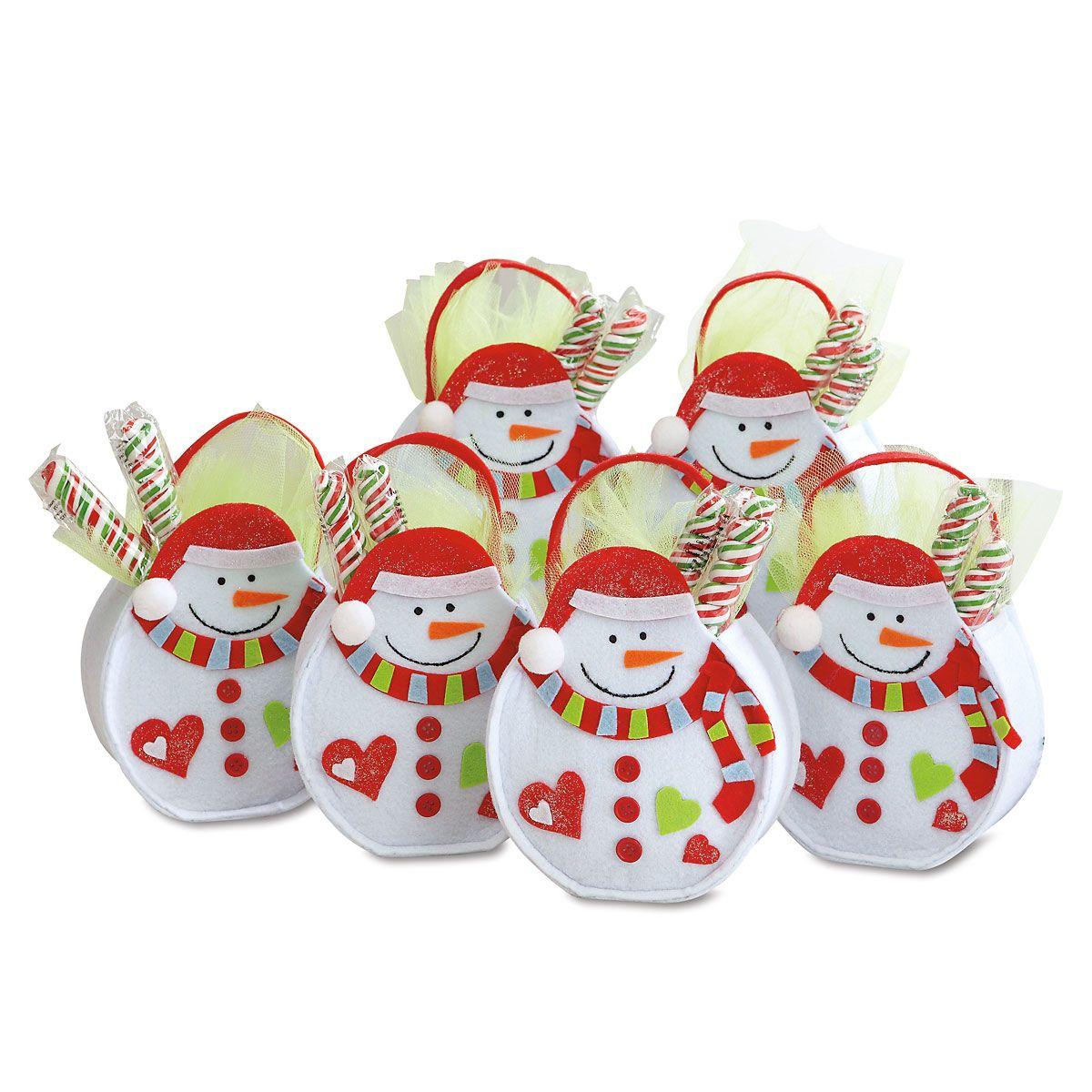 Christmas Snowman Felt Party Treat Bags