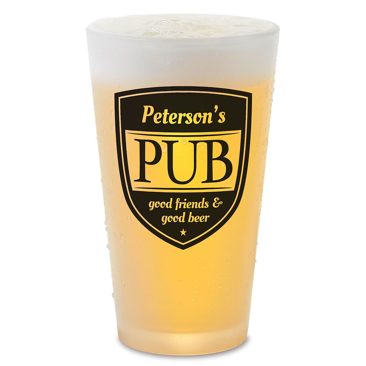 Personalized Pub Pint Beer Glass