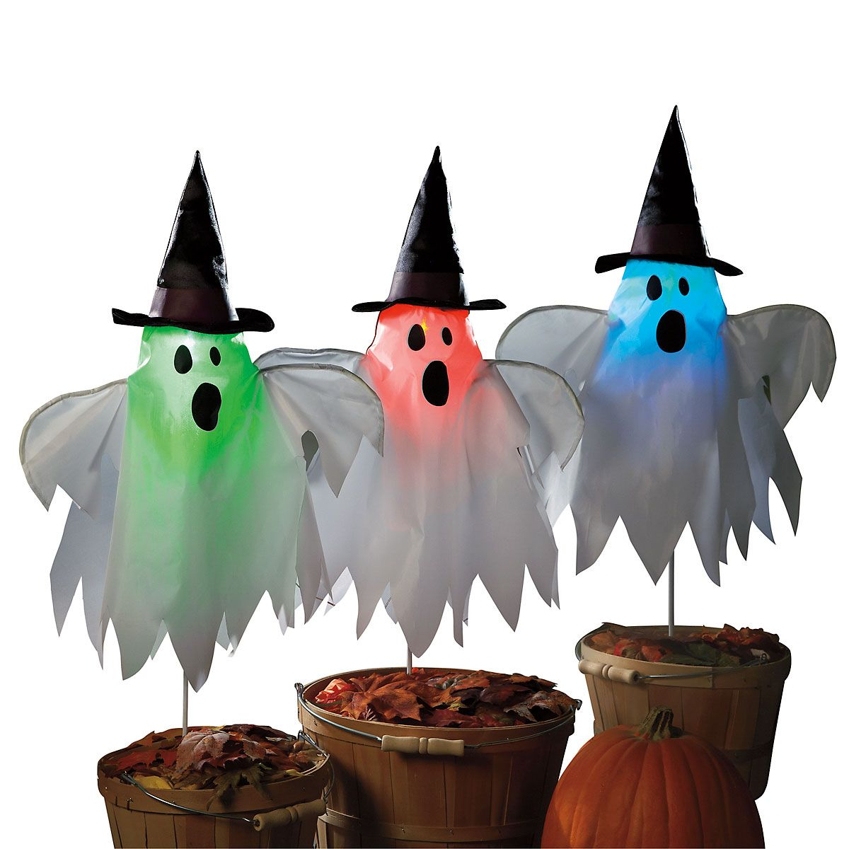 Light-Up Halloween Ghosts