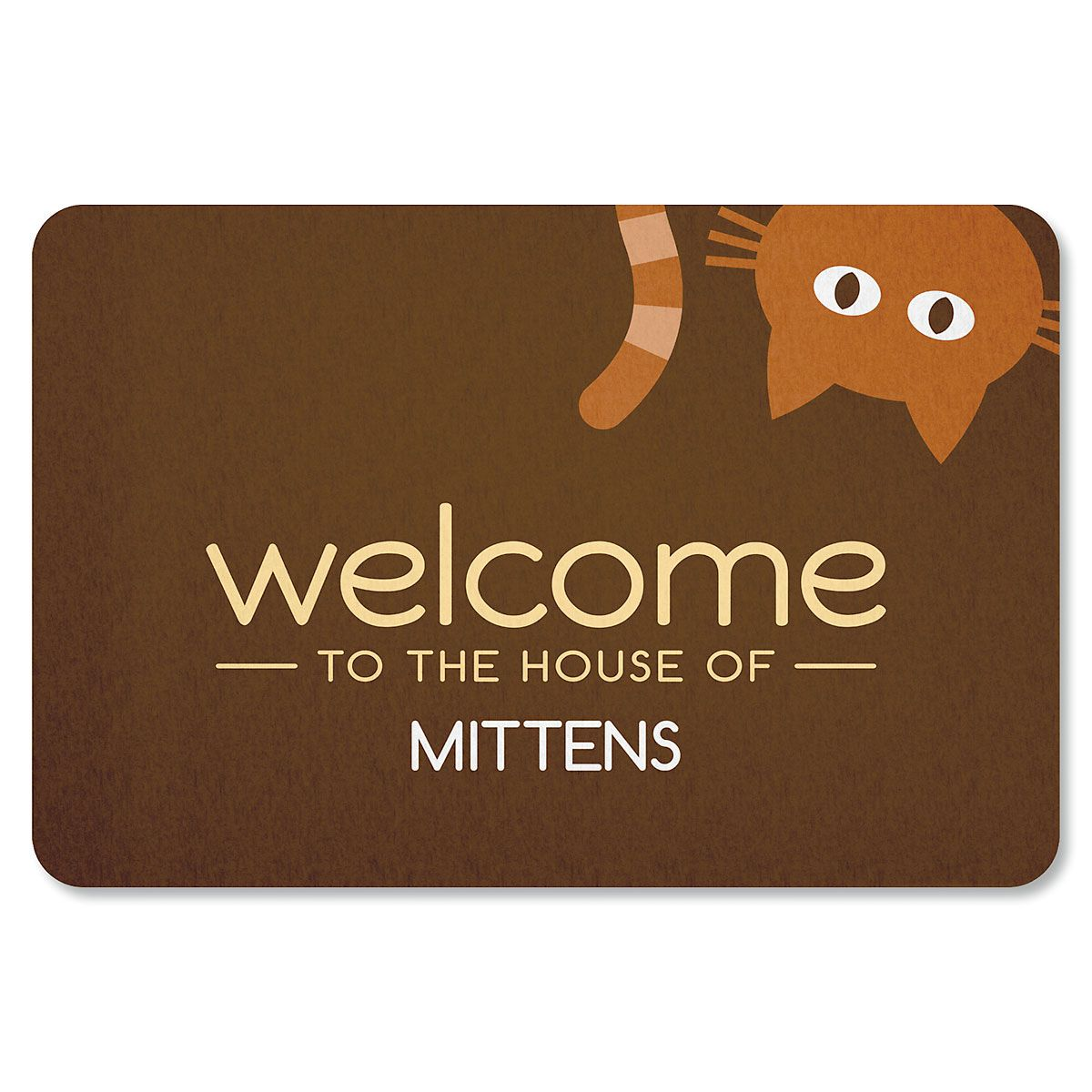 Personalized Cat Welcome Doormat-1 Cat-615568A