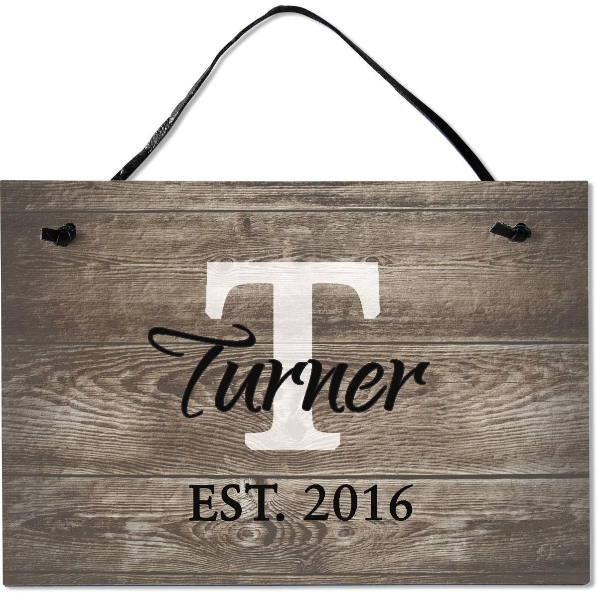 Established Personalized Wooden Plaque