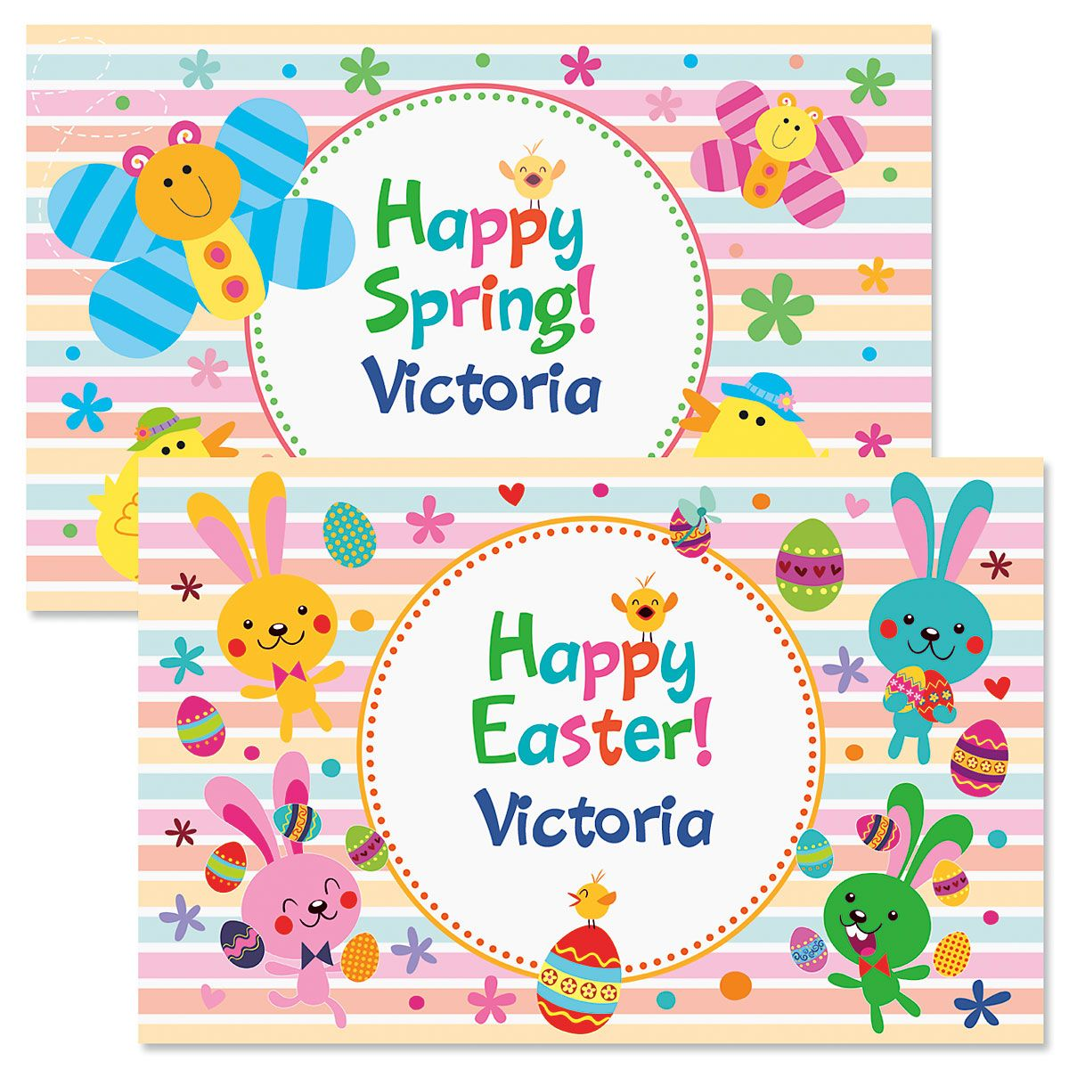 Personalized Easter Placemats-Girl-615900A
