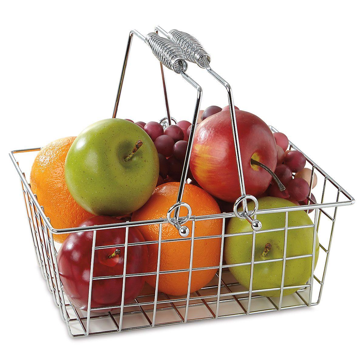 Chrome Handle Basket