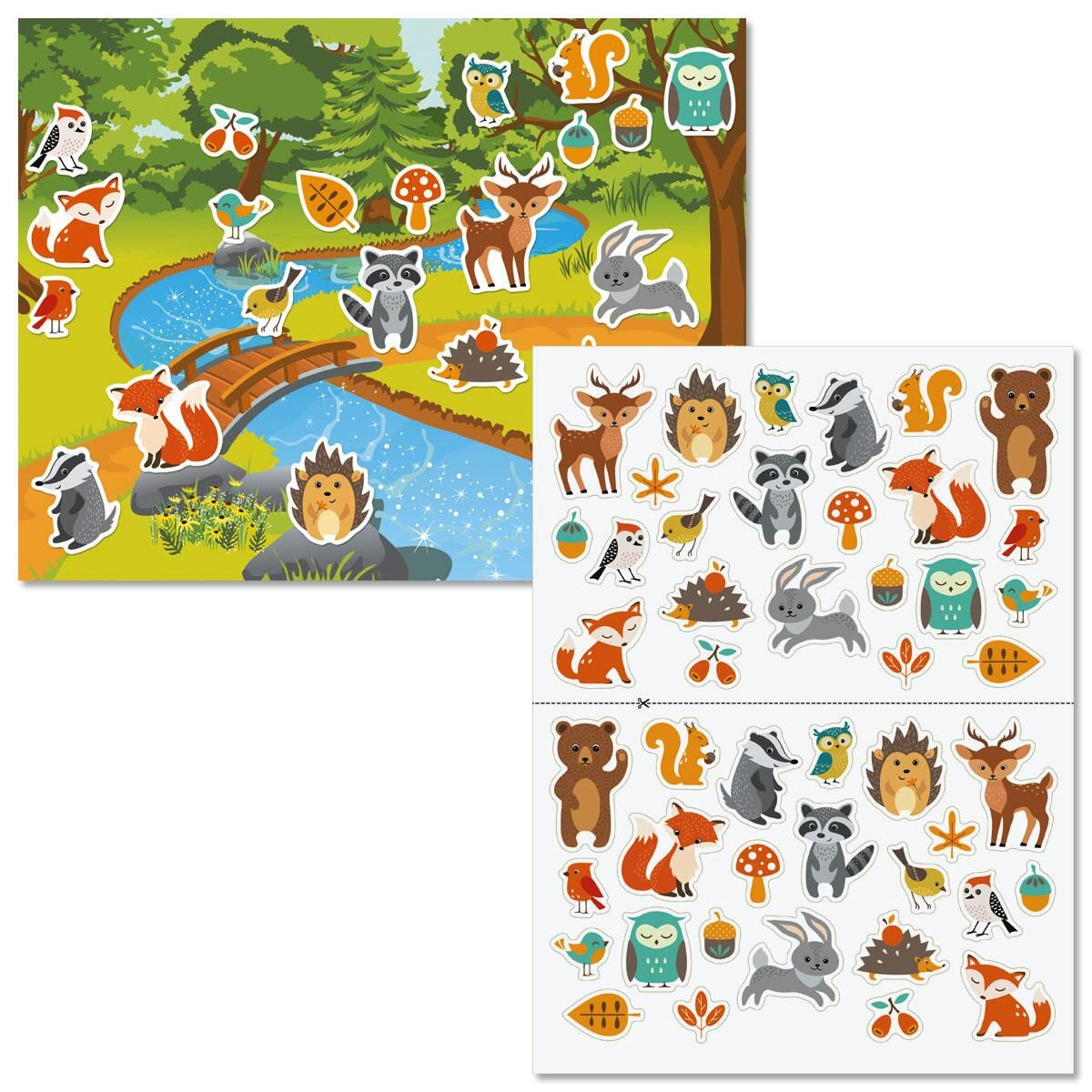 Forest Friends Background Scenes and Stickers