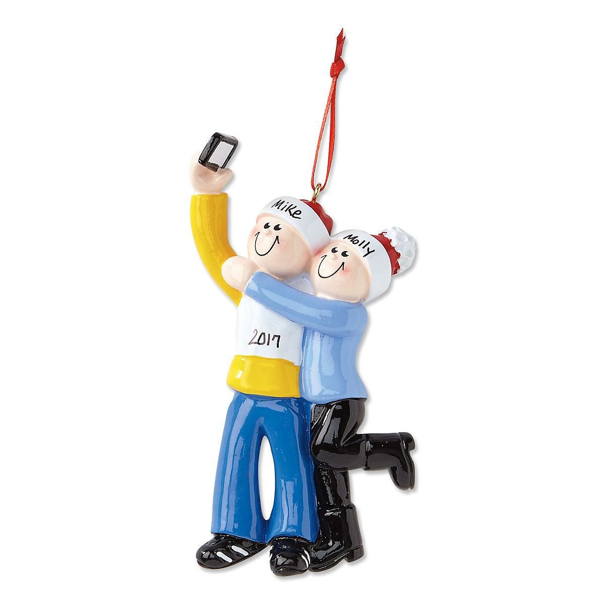 Selfie Designs Christmas Personalized Ornaments