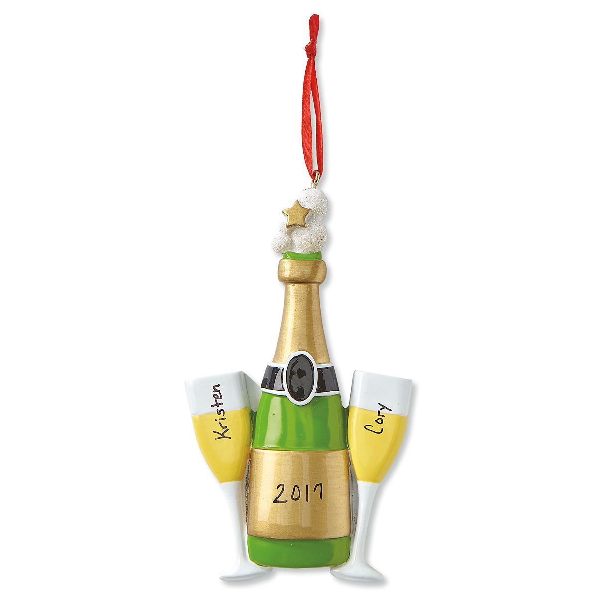 Cheers Christmas Personalized Ornaments