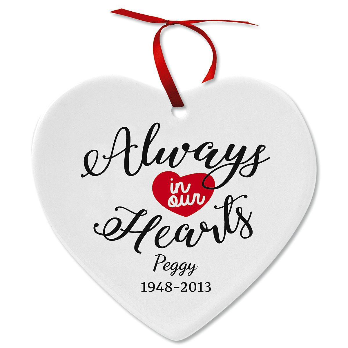 Remembrance Ceramic Personalized Christmas Ornaments