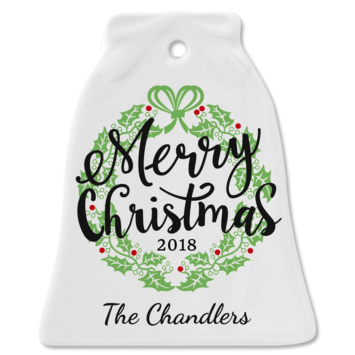 Merry Christmas Ornaments: Merry Christmas Ceramic Personalized Christmas Ornaments