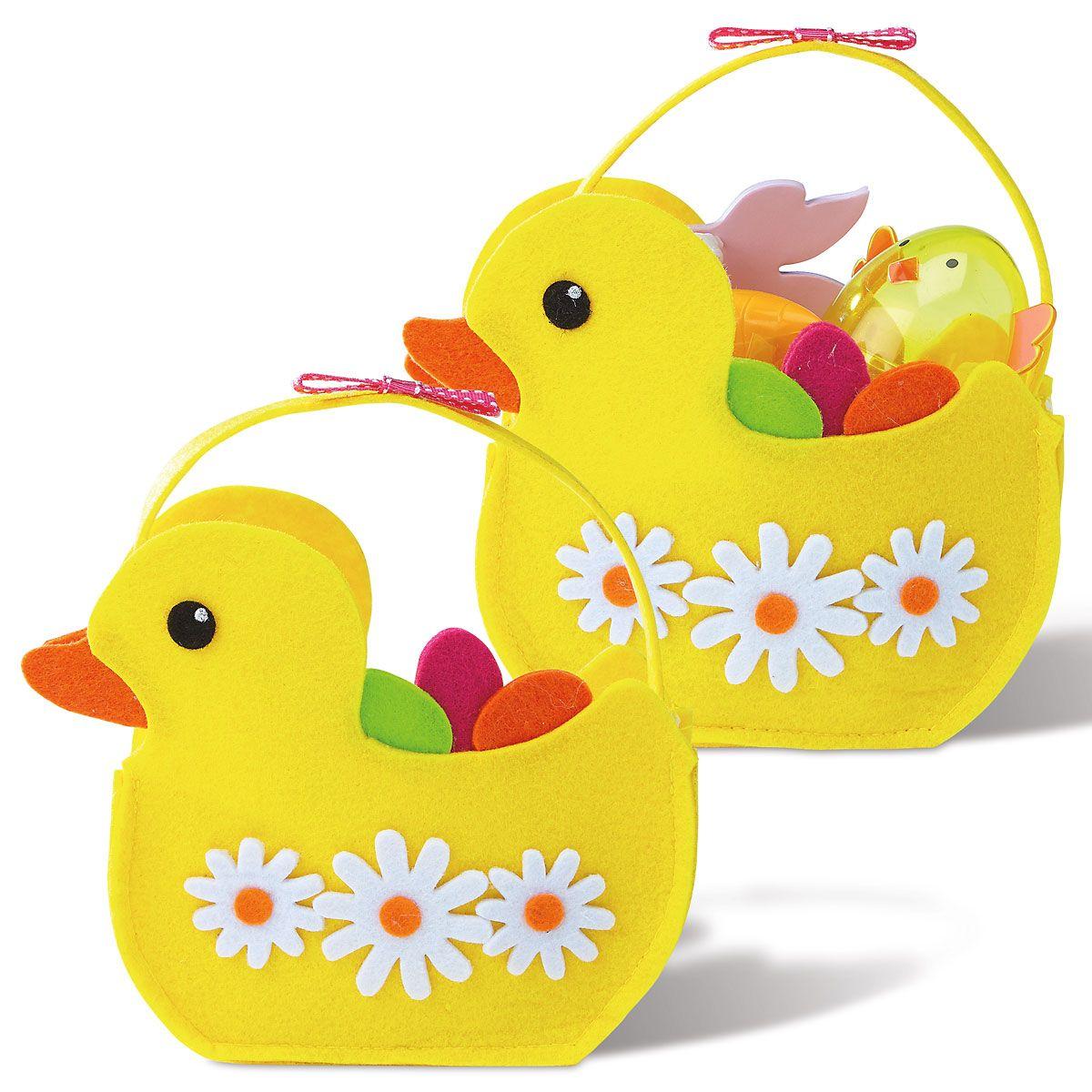 Easter Felt Duck Treat Bags