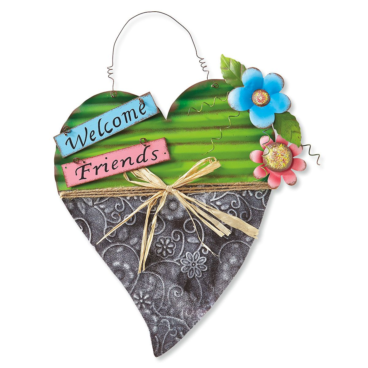 Welcome Friends Spring Sign