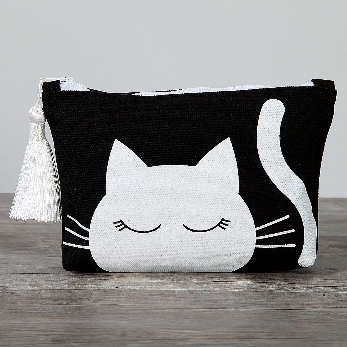 Cat Canvas Cosmetic Bag