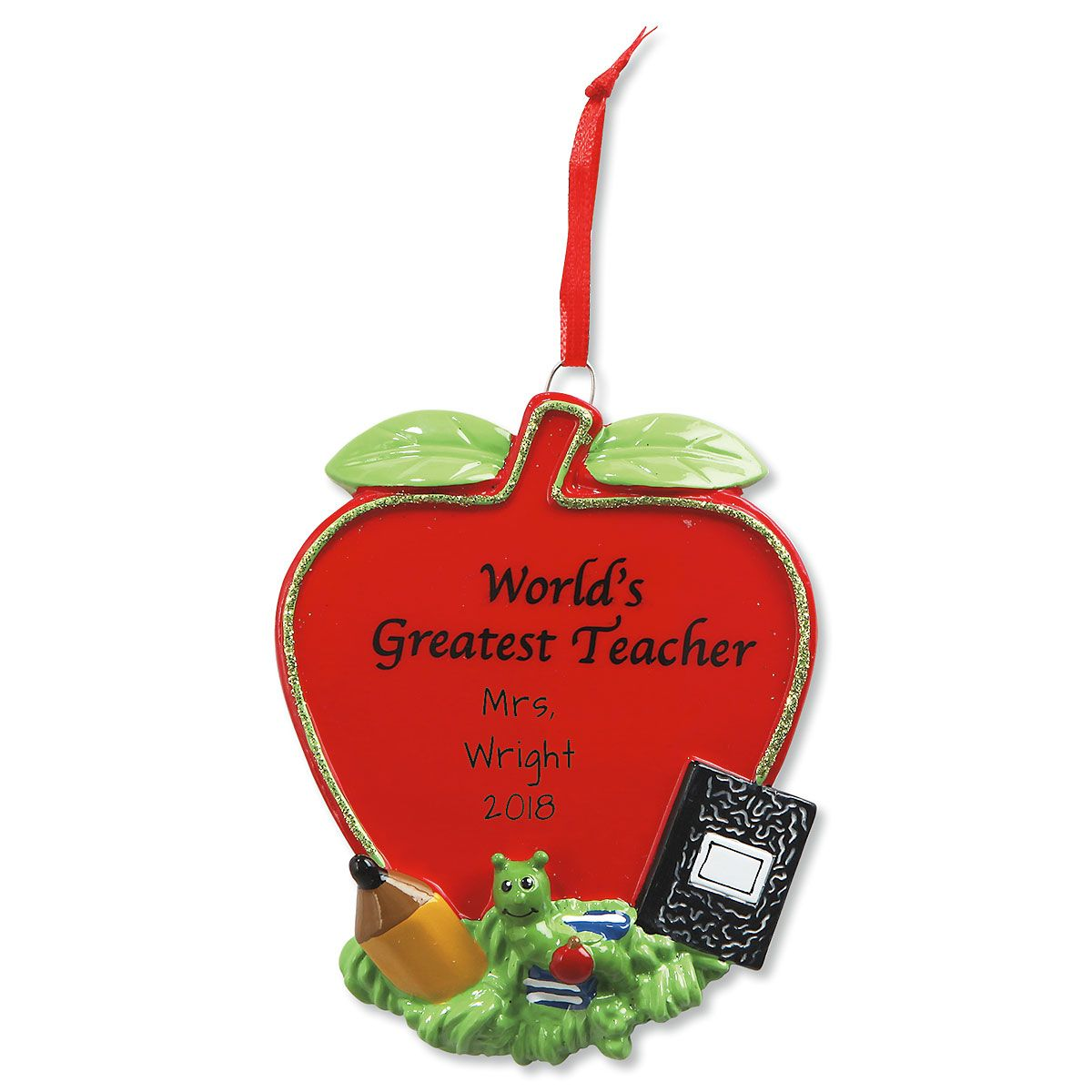 Teacher Personalized Christmas Ornament