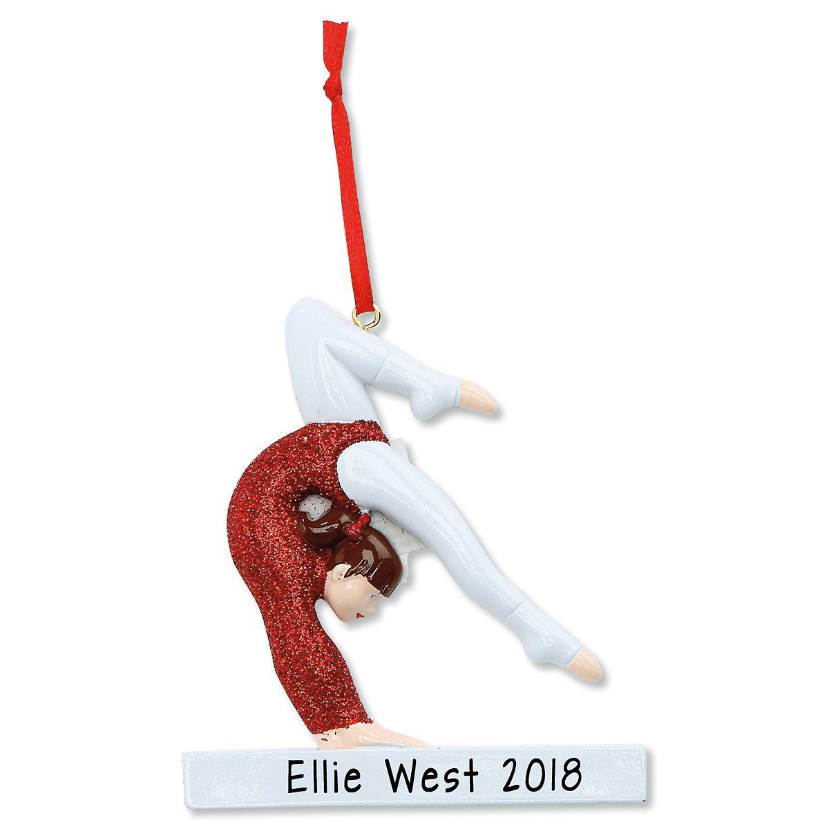 Gymnastics Personalized Christmas Ornament