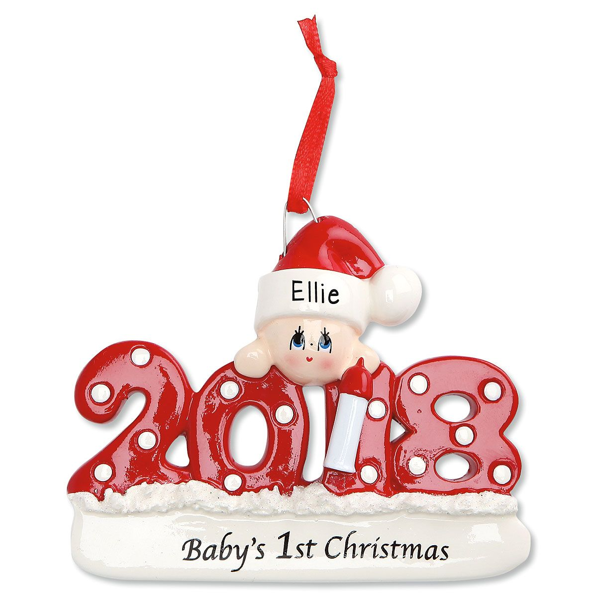 2018 Baby's 1st Personalized Christmas Ornament | Lillian ...