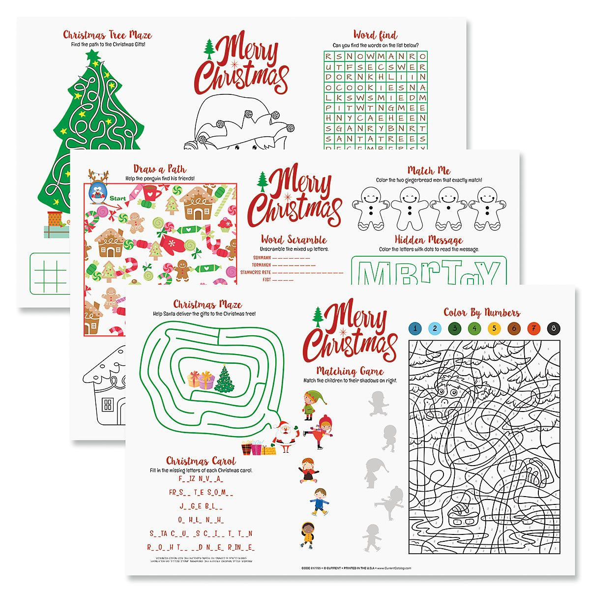 Christmas Activity Paper Place Mat