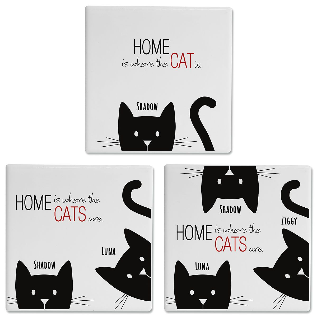 Personalized Cat Coasters