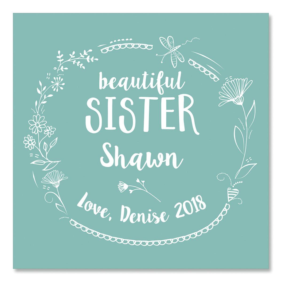 Personalized Sister Glass Trinket Box