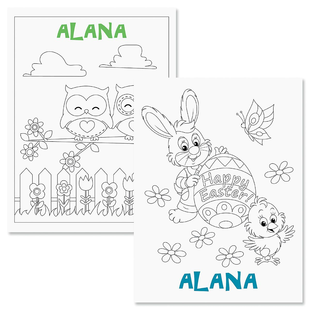 Personalized Easter Coloring Book