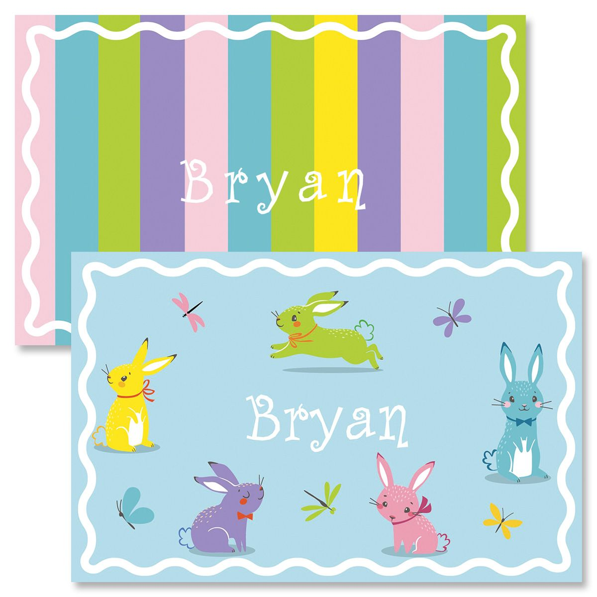 Bunnies Personalized Easter Placemat