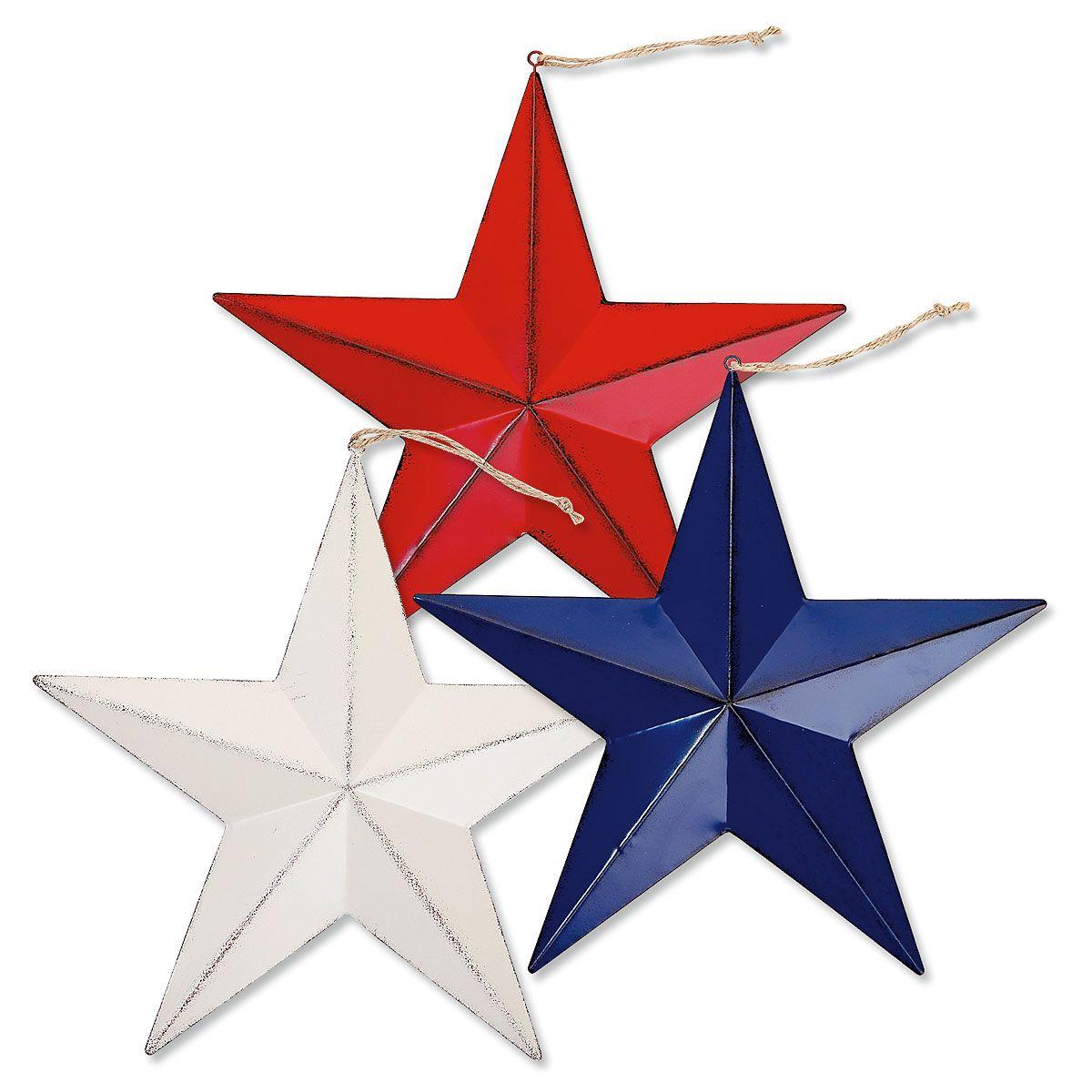 Large Patriotic Metal Stars