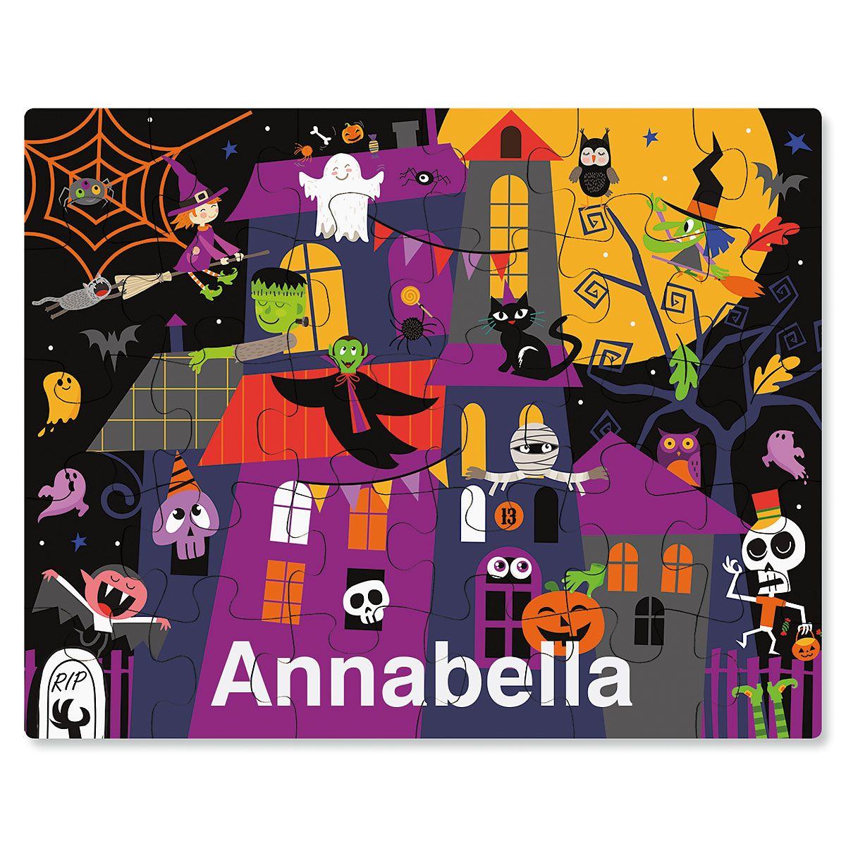 Haunted House Halloween Personalized Puzzle