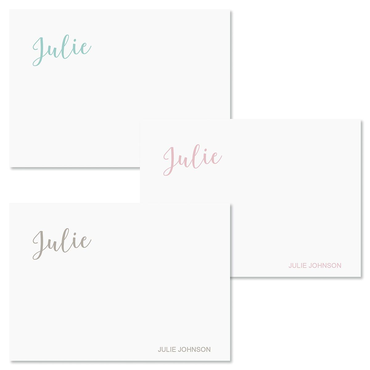 Hand Script Folded Note Cards