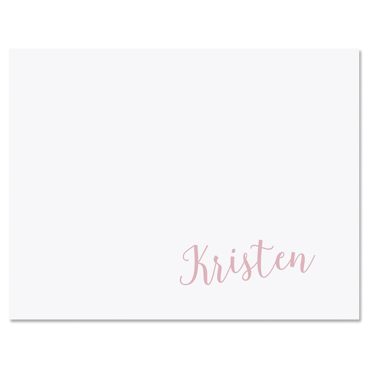 Sweeping Name Folded Note Cards