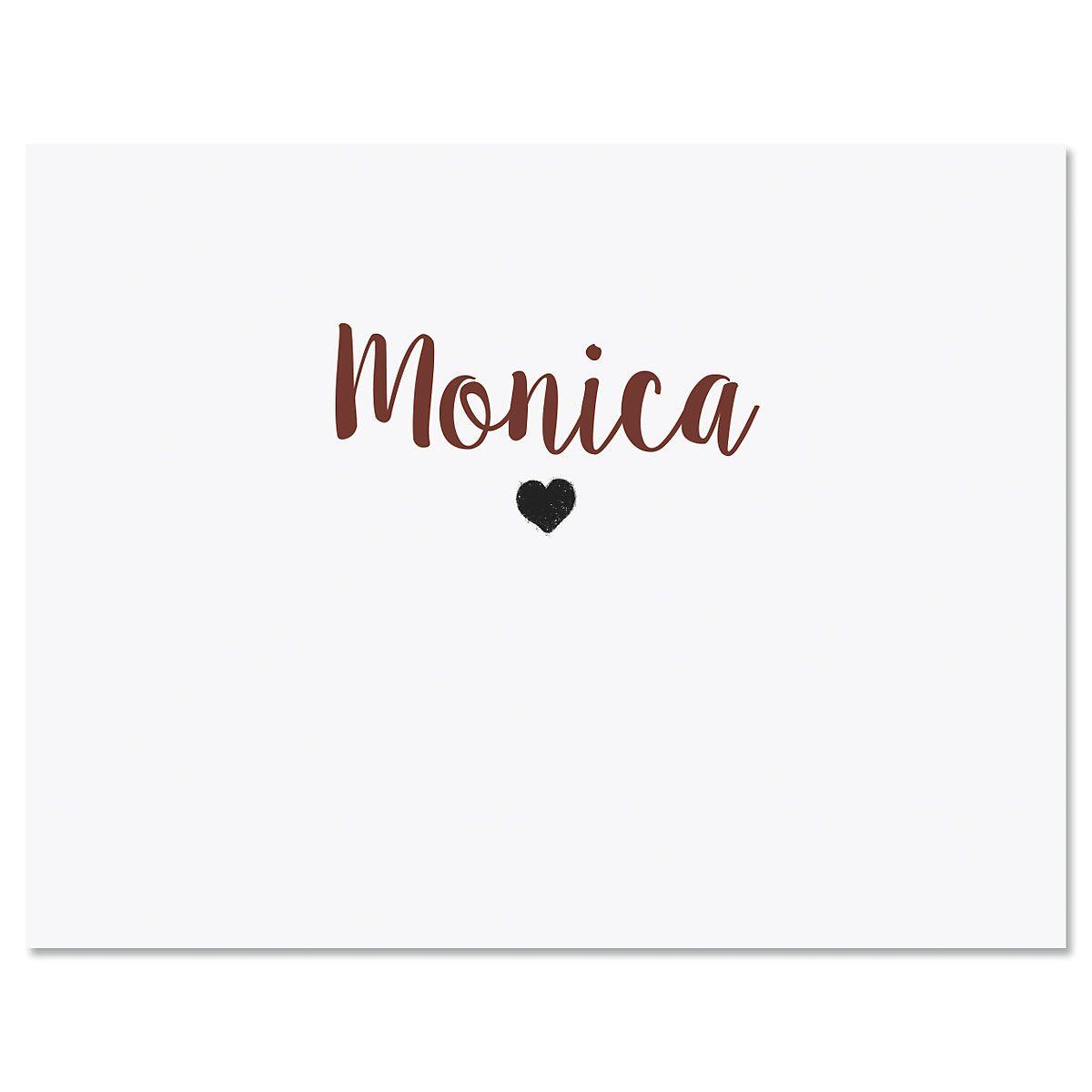Mini Heart Folded Note Cards