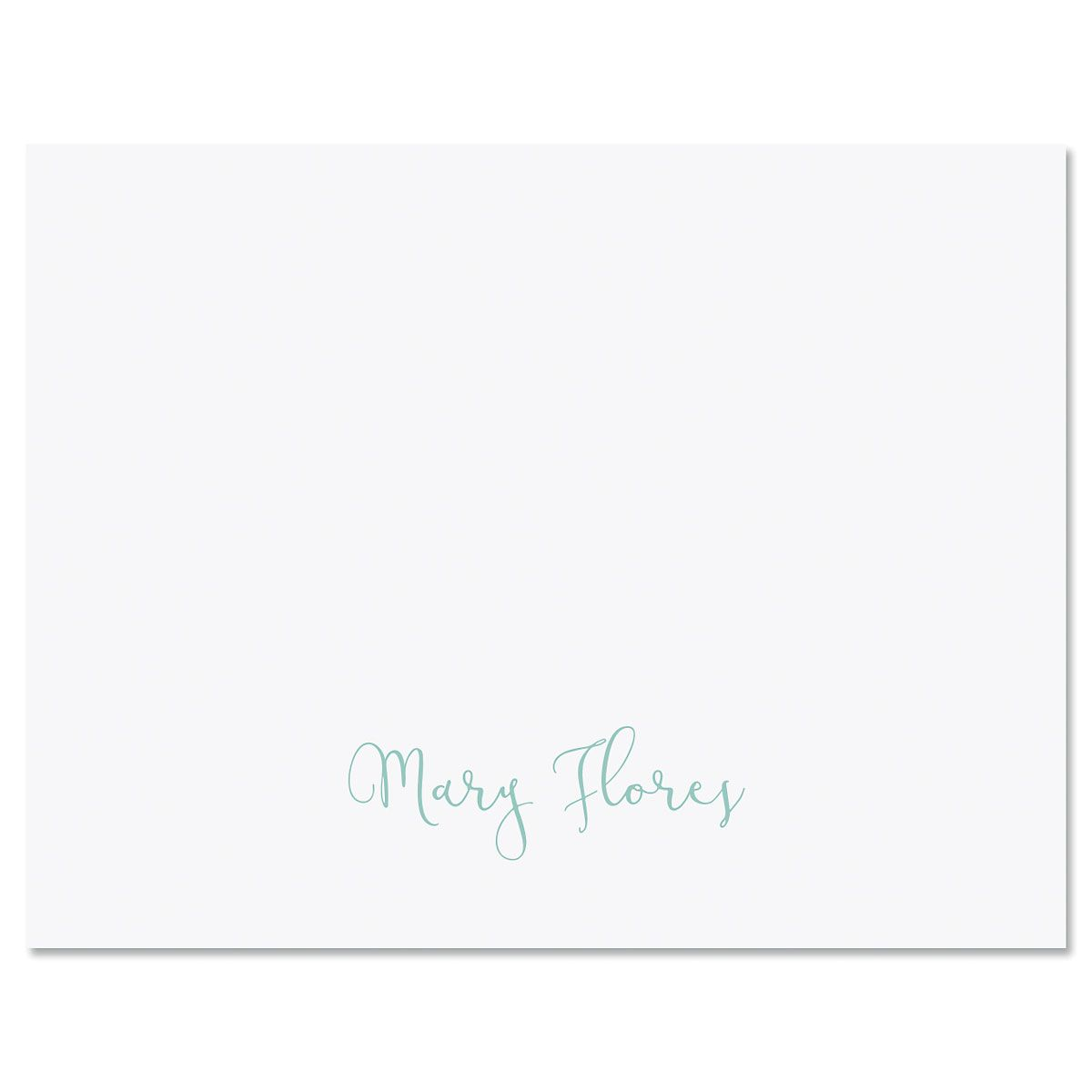 Simple Script Folded Note Cards